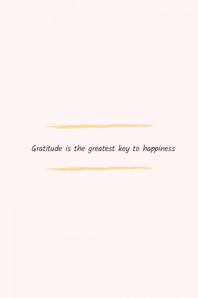 Gratitude is the greatest key